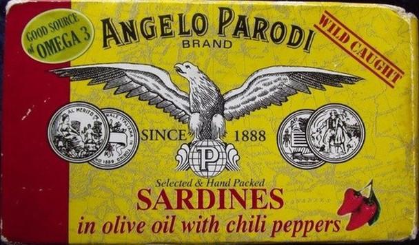 Angelo Parodi Sardines In Oil 4.23oz. (120g)