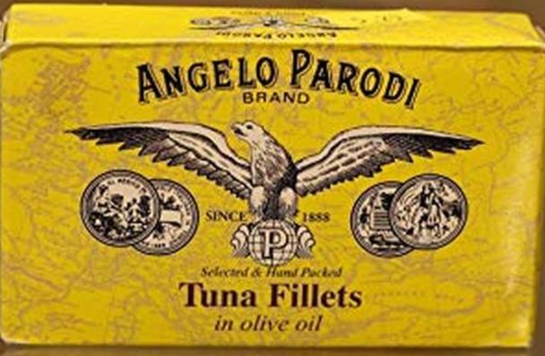 Angelo Parodi Tuna Fillets In Oil 4.4oz. (125g)