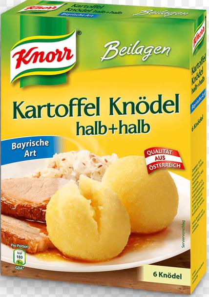 KNORR Kartoffel Knödel halb + halb Bayrische Art 100g