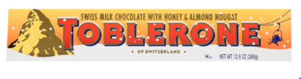 Giant Toblerone Swiss Milk Chocolate With Honey And Almond Nougat