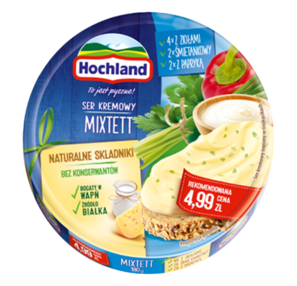 Hochland Mixtett Cream Cheese 7oz (200g) (refrigerated)