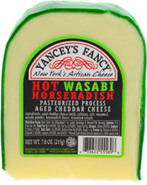 Yancey's Fancy Hot Wasabi Horseradish Cheese 7.6 oz (refrigerated)