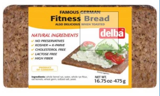 Delba Fitness Bread 16.75 oz (475g)