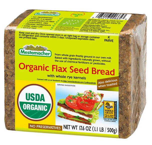 Mestemacher Organic Flax Seed Bread 17.6 oz (500g)