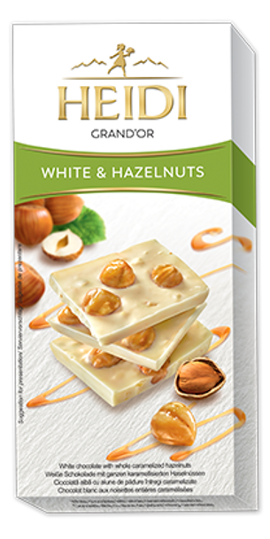 Heidi Grand'Or White & Hazelnuts 100g