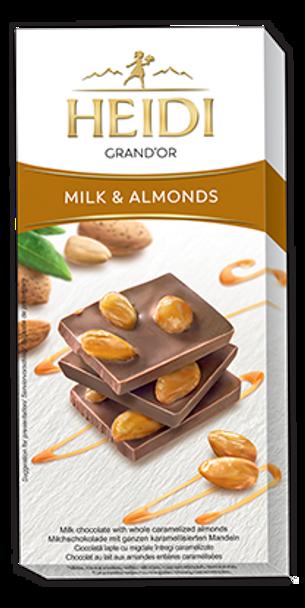 Heidi Grand'Or Milk & Almonds 100g