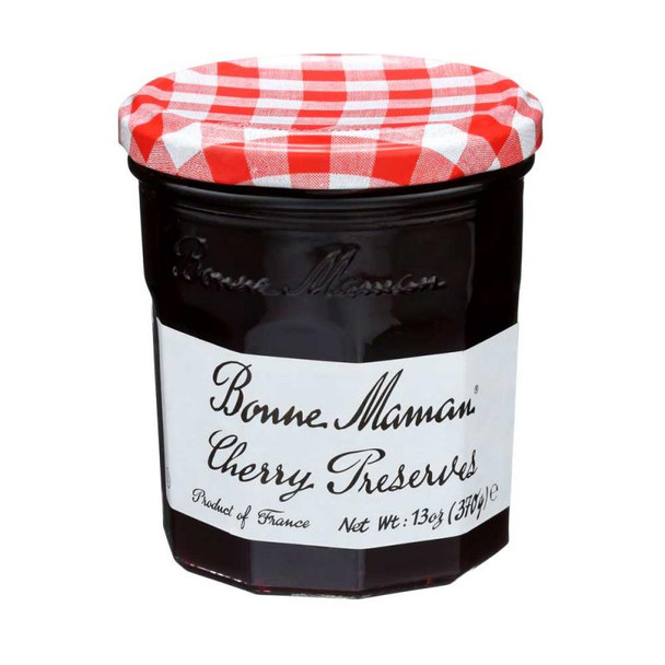 Bonne Maman products, produced in France, are Non-GMO Project Verified, have no high fructose corn syrup, no artificial coloring or no preservatives added. Whether you spread Bonne Maman Cherry Preserves on toast, slather it over waffles, or sneak spoonfuls straight from the jar, you'll love our Bonne Maman Cherry Preserves. With chunks of cooked cherries throughout, these preserves are as close as you'll get to homemade without doing the picking, cooking and canning yourself.