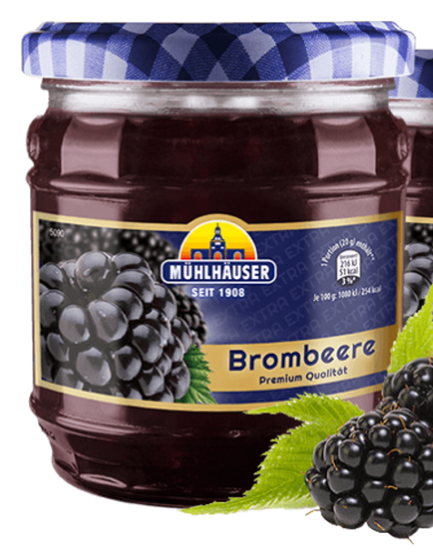 Muhlhauser Premium Brombeere Jam 16oz (450g)
