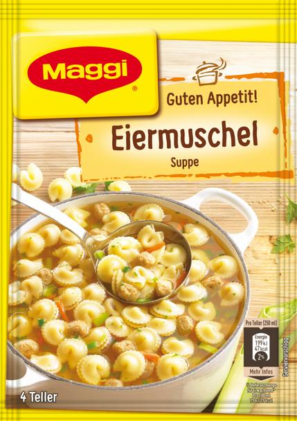 Maggi Eier-Muschel Suppe 1L