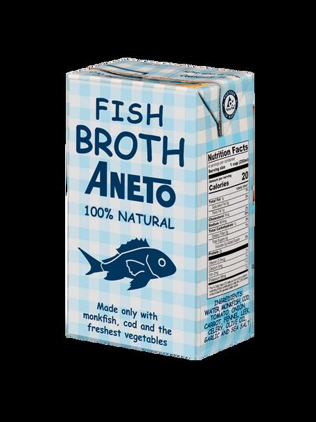Aneto Fish Broth 100% Natural 33.83 Fl. Oz (1000ml)