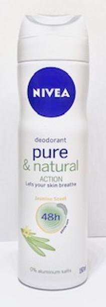 Nivea Deodorant Pure & Natural Action 150ml 5oz