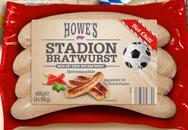 Howe Bavarian Jalapeno Cheese Bratwurst (4) pack 12oz