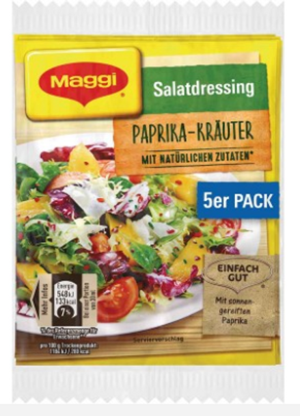 Maggi Salatdressing Paprika-Krauter (5 pack)