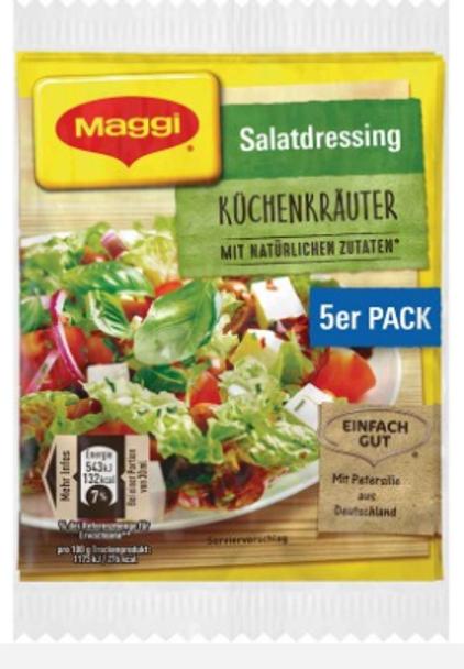 Maggi Salatdressing Kuchenkrauter (5 pack) 8g each