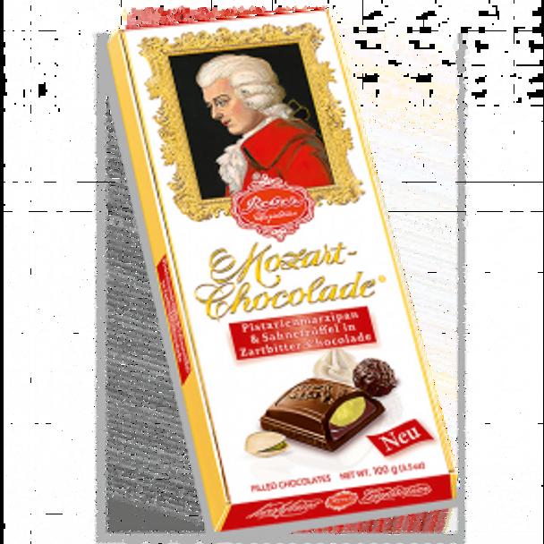 Reber Mozart Milk Chocolade, Marizpan & Cream Truffle Bar 100g
