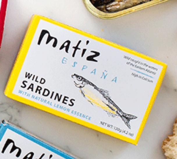 Matiz Wild Sardines with Lemon Essence 4.2oz (120g)