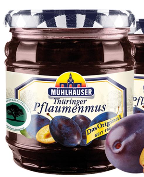 Muhlhauser Thuringer Pflaumenmus Jam 16oz (450g)