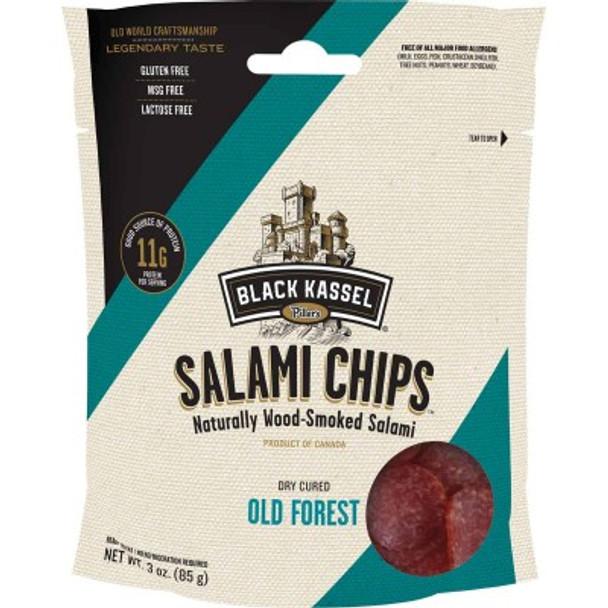 Black Kassel Salami Chips 3oz (85g)
