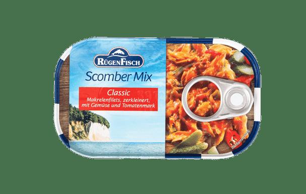 Rügen Fisch Scomber Mix  Mackerel Fish Fillets and Vegetables (120g)