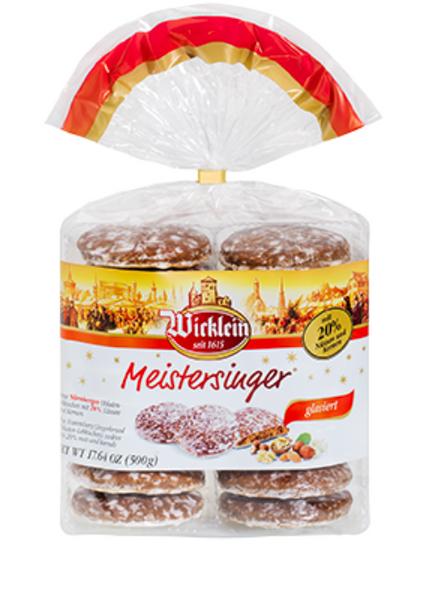 Wicklein Meistersinger Glazed Nuremberg Gingerbread Cookies 17.6oz (500g)
