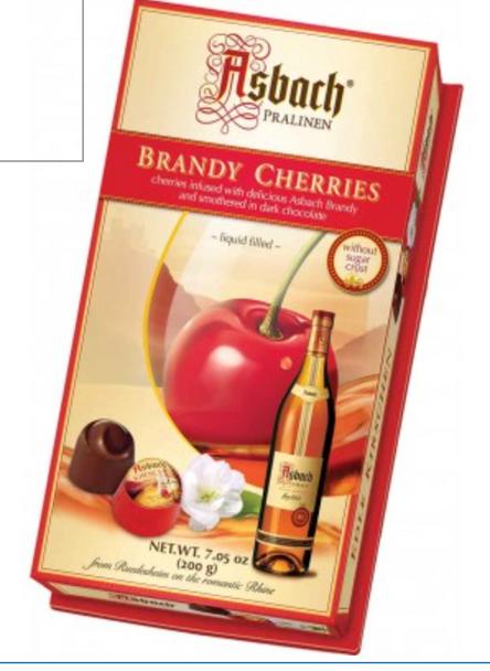 Asbach Brandy Filled Cherries 7.05oz (200g)