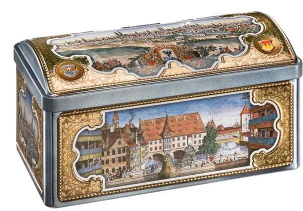 Lebkuchen-Schmidt Small Nuremberg Treasure Chest 2020 525g