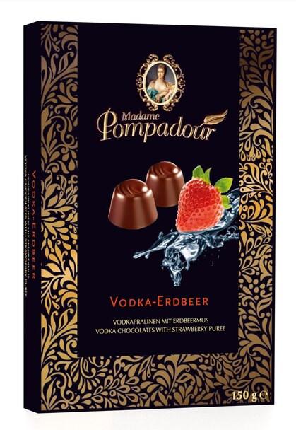 Madame Pompadour Vodka-Erdbeer Chocolates 5.3oz. (150g)