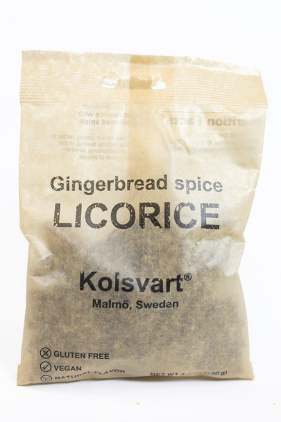 Kolsvart Gingerbread Spice Licorice 4.2oz. (120g)
