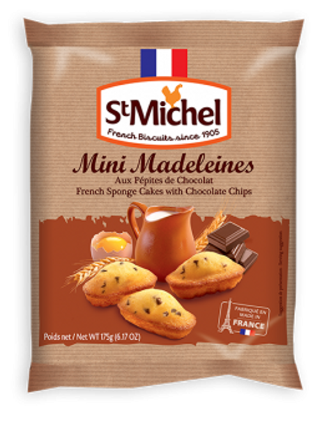 St Michel Mini Madeleines with Chocolate Chips 6.17oz ( 175g)