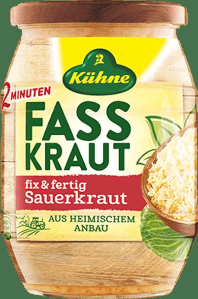 Kuhne Fasskraut Fix & Fertig Sauerkraut 24.3oz (720ml)