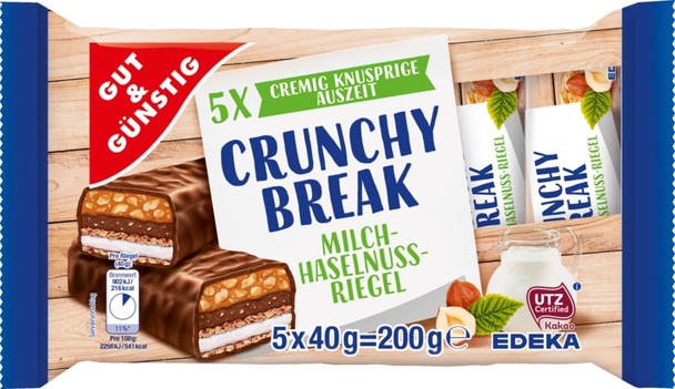 GUT & GÜNSTIG Crunchy Break Riegel (5x40g)