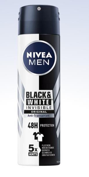 Nivea Men Black & White Anti-Perspirant 150ml