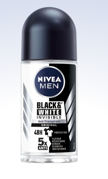 Nivea Men Black & White Roll-On Anti-Perspirant 50ml