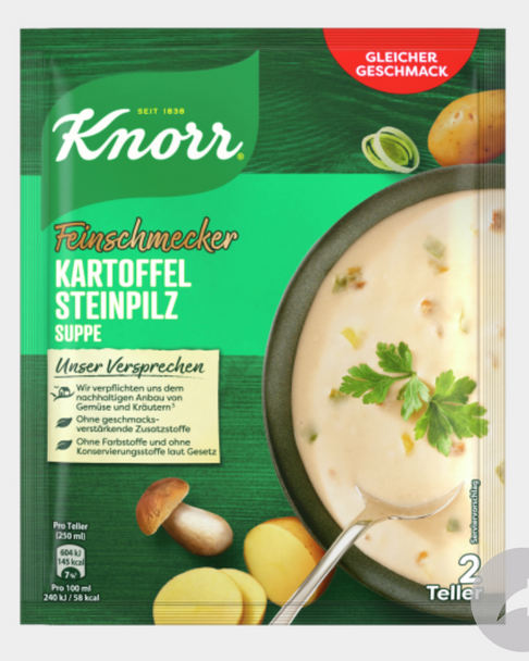 KNORR Feinschmecker Kartoffel Steinpilz Cremesuppe 58g