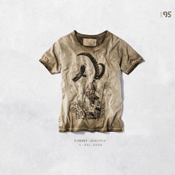 Stockerpoint Mens T-Shirt Bergfex Sand