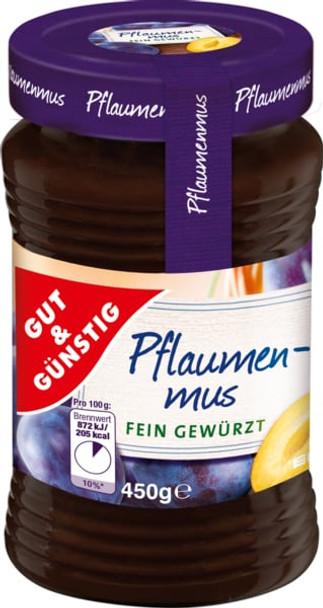 Gut & Gunstig Pflaumen-Mus Butter 450g