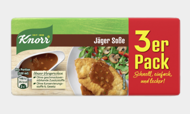 Knorr Jager Sosse (3 pack) 750ml