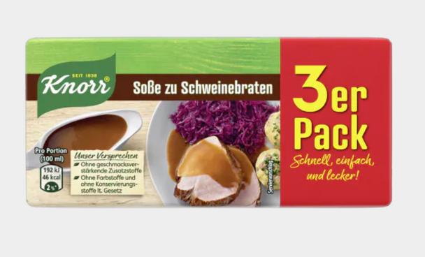 Knorr Sosse zu Schweinebraten (3 pack) 750ml