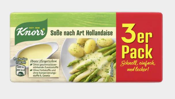 Knorr Sosse nach Art Hollandaise (3 pack) 600ml