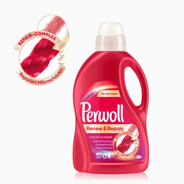 Perwoll Renew & Repair Color Laundry Detergent 1.44L 24 loads