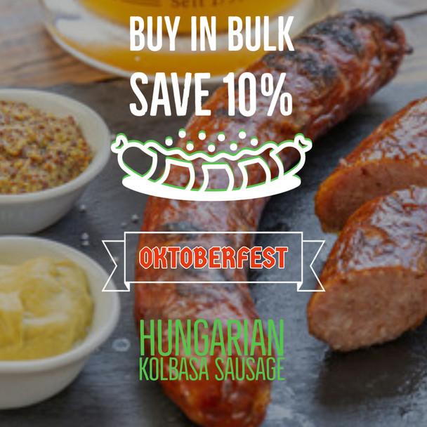 Germandeli.com Hungarian Kolbasa Soft Sausage (15) per 5lb