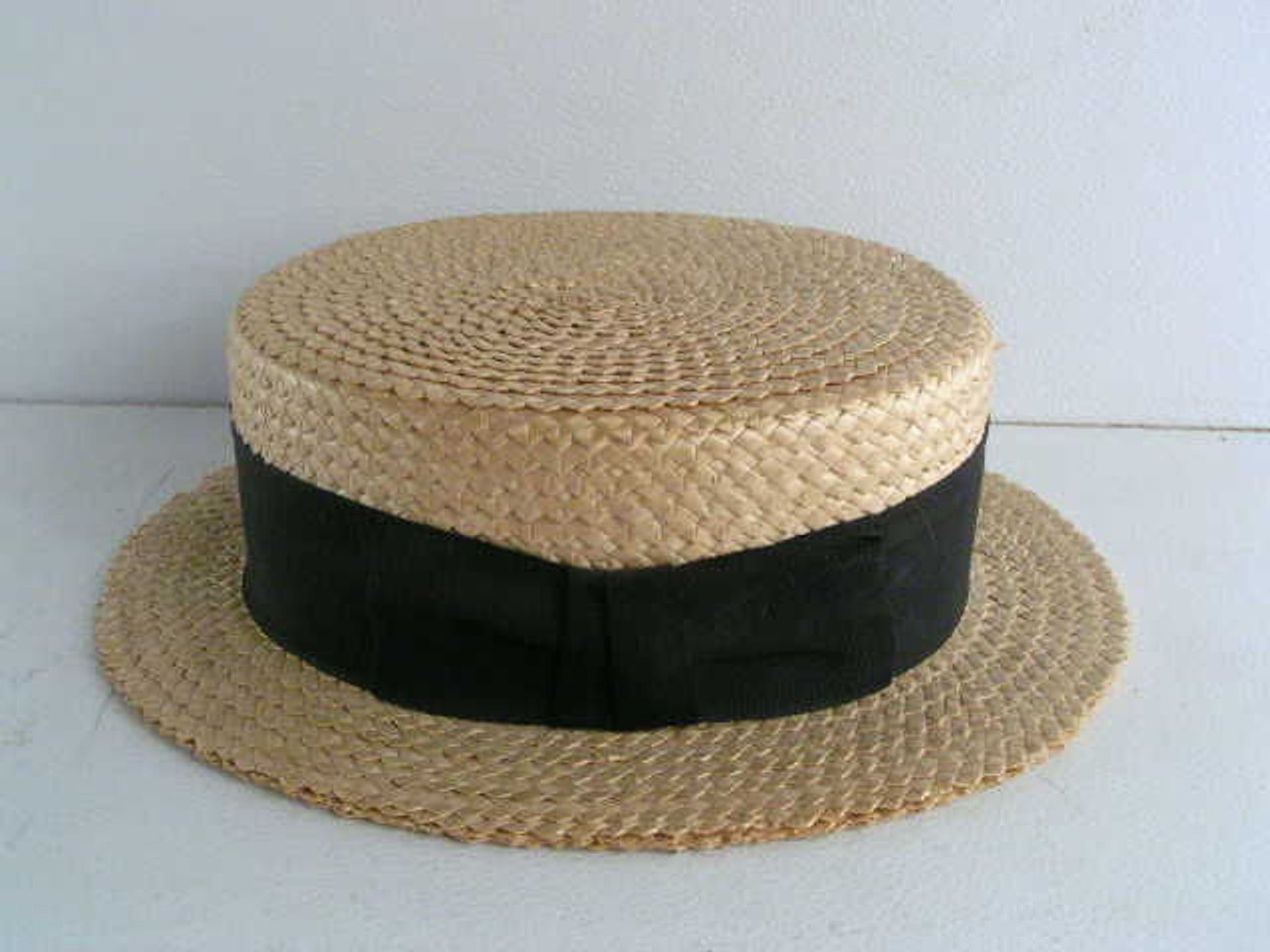 000fafd5 This antique straw boaters hat is a Stetson size 7 1/4. - Antique Mystique