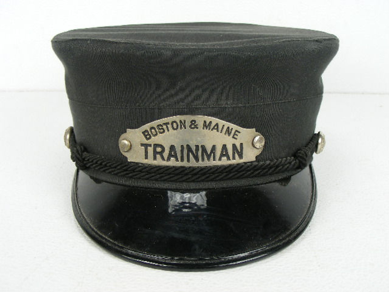 This original old Boston  amp  Maine Railroad trainman hat or cap is  complete with front badge 54bf1f696c90