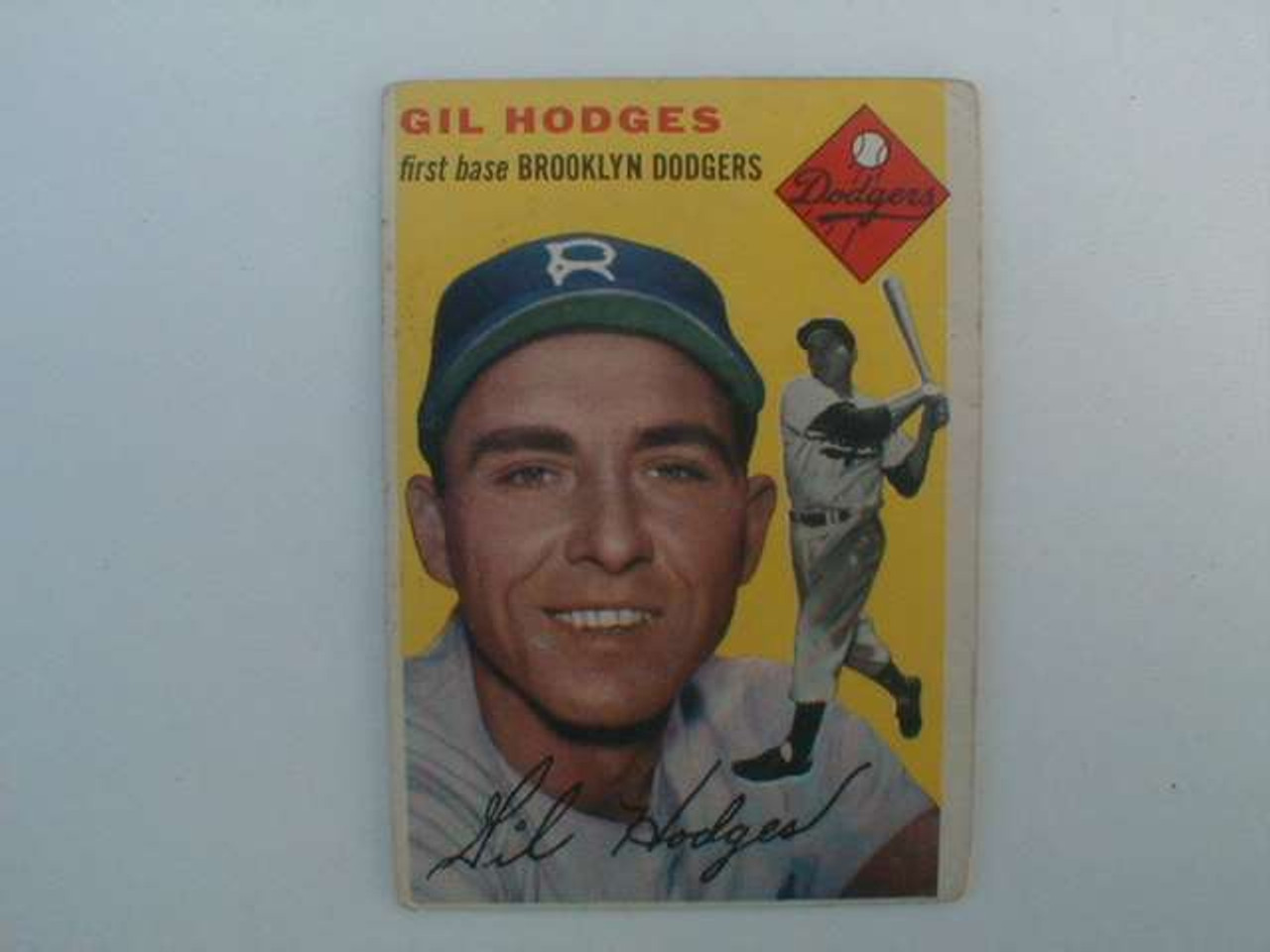 Vintage 1954 Topps Gil Hodges Baseball Card