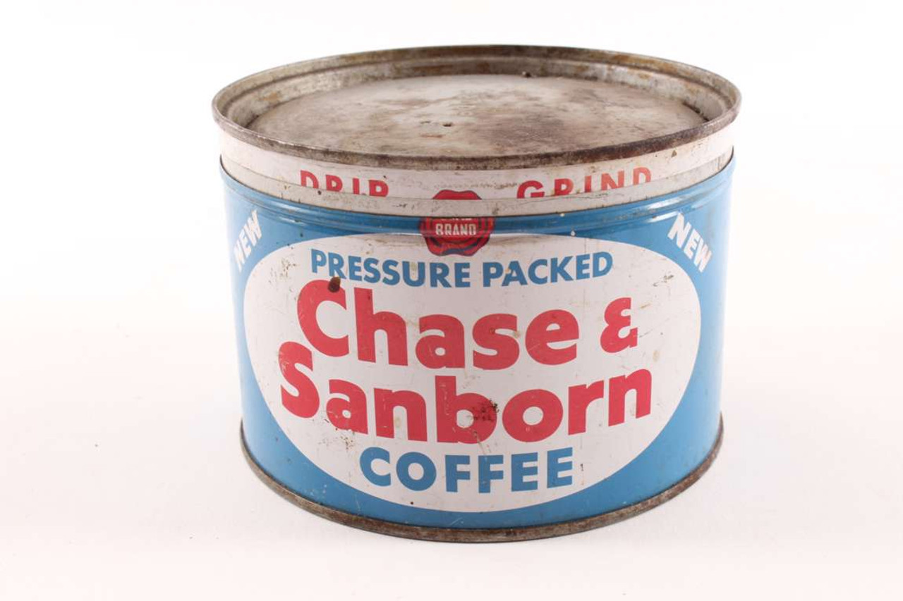 Old Chase Sanborn Coffee Can