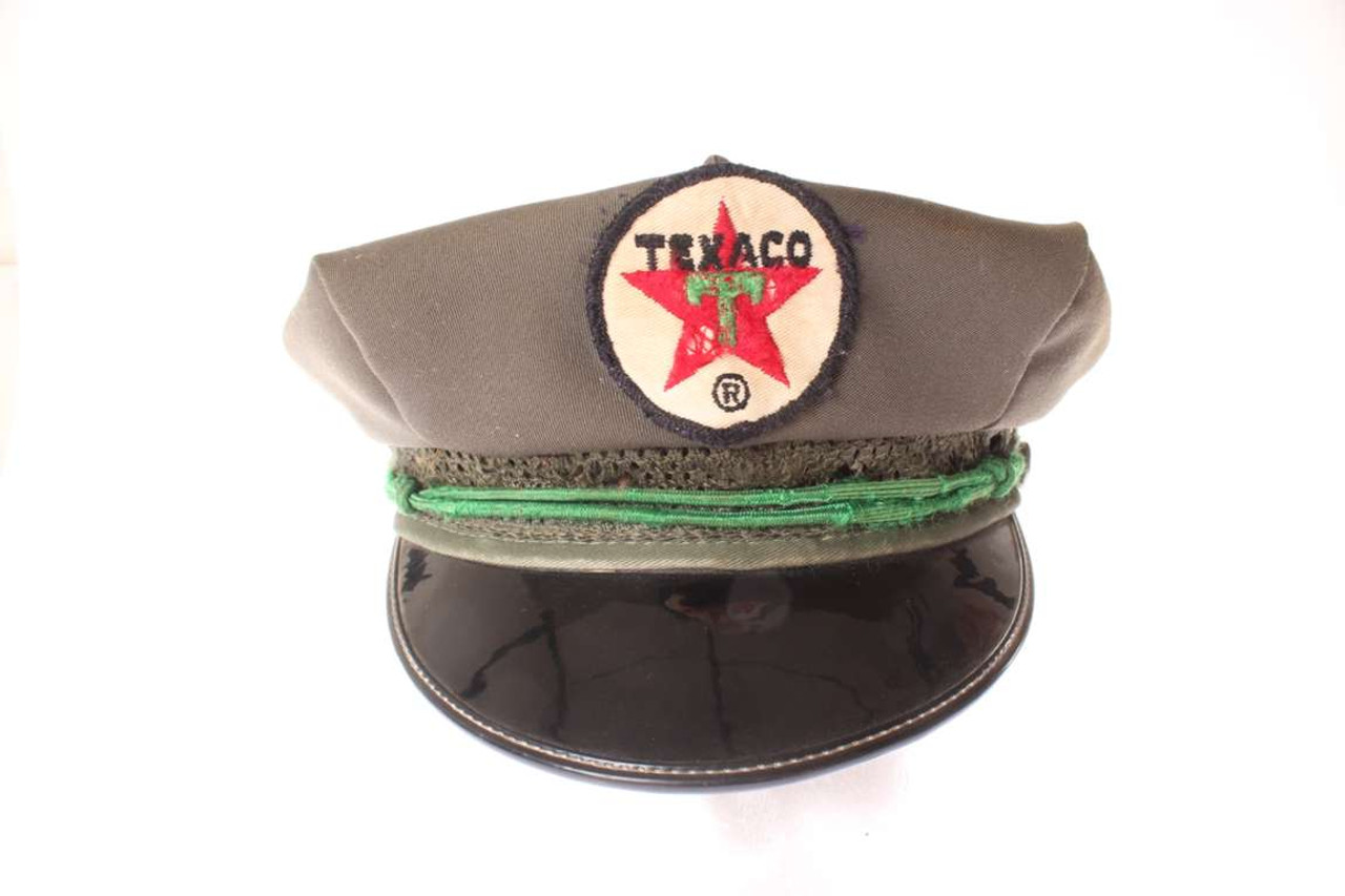 Old Vintage Texaco Service Station Gas Pump Attendant Hat