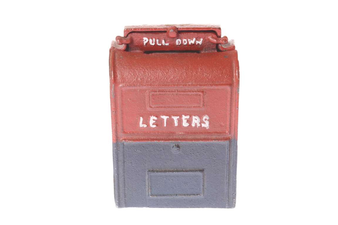 Picture of: Cast Iron Post Office Mail Box Bank