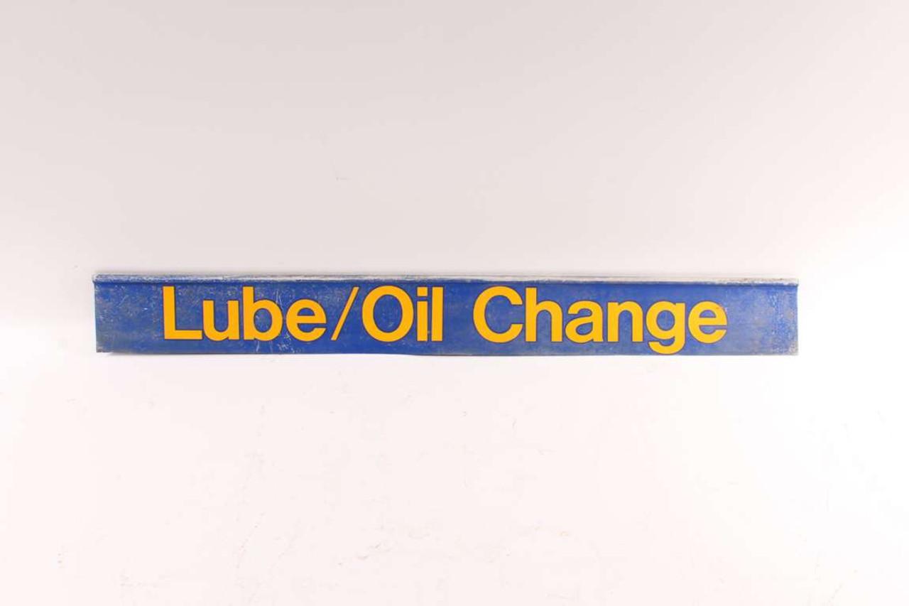 Vintage Service Station Lube & Oil Change Metal Advertising Sign