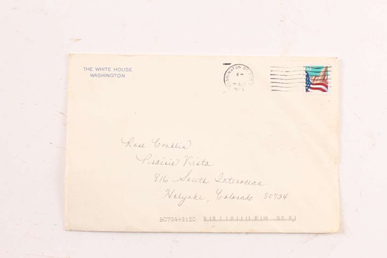 vintage white house birthday card president clinton rose conklin 100th