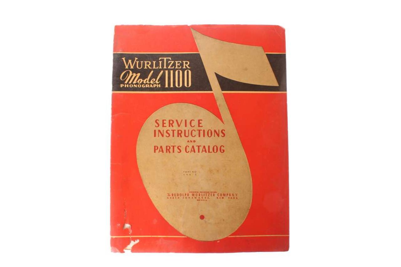 Old Wurlitzer Model 1100 Jukebox Manual